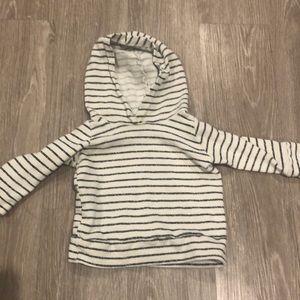 little wedgies hoodie in natural stripe 12-18m